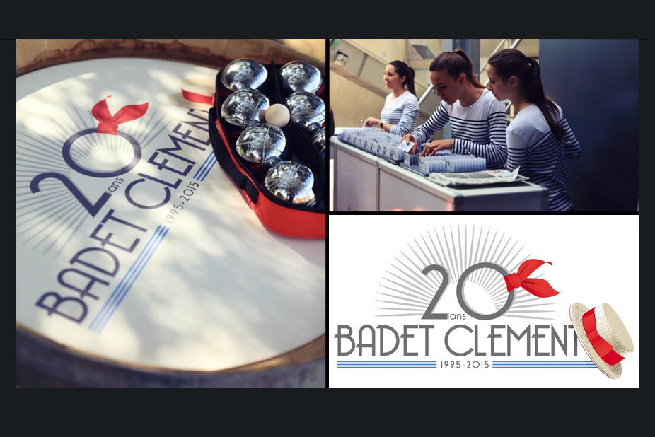 """Badet Clément - Logo de l'événement """"20 ans"""" - Agence Claire Contamine RP & Stratégies"""