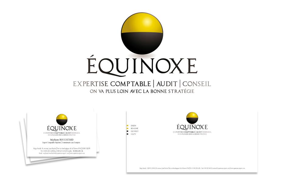 Identité visuelle Équinoxe - Agence Claire Contamine RP & Stratégies