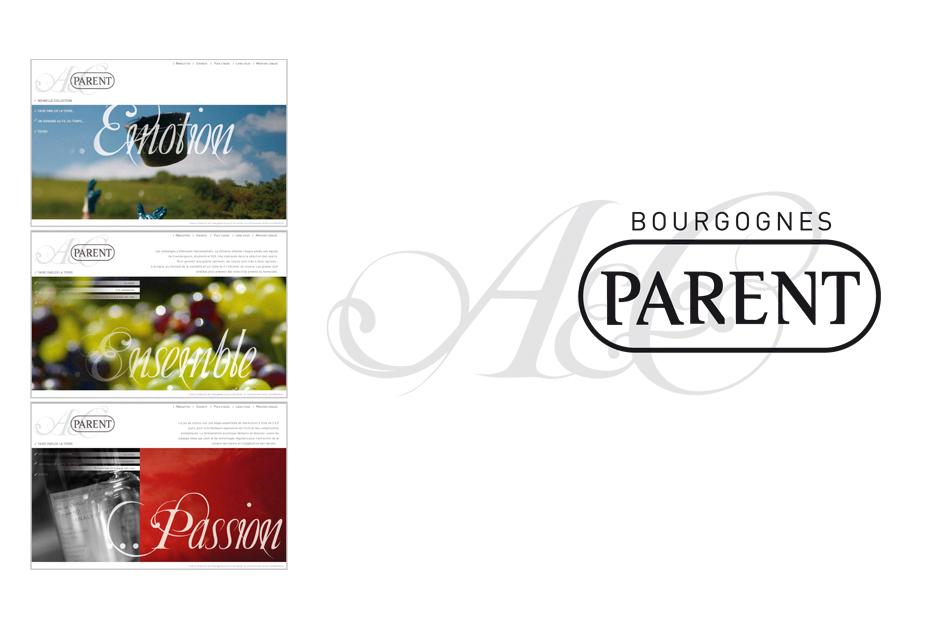 Bourgognes Parent - Identité visuelle et site internet - Agence Claire Contamine RP & Stratégie