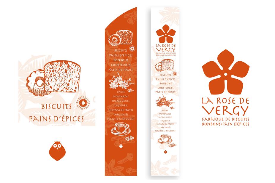 La Rose de Vergy - Identité visuelle et PLV boutique
