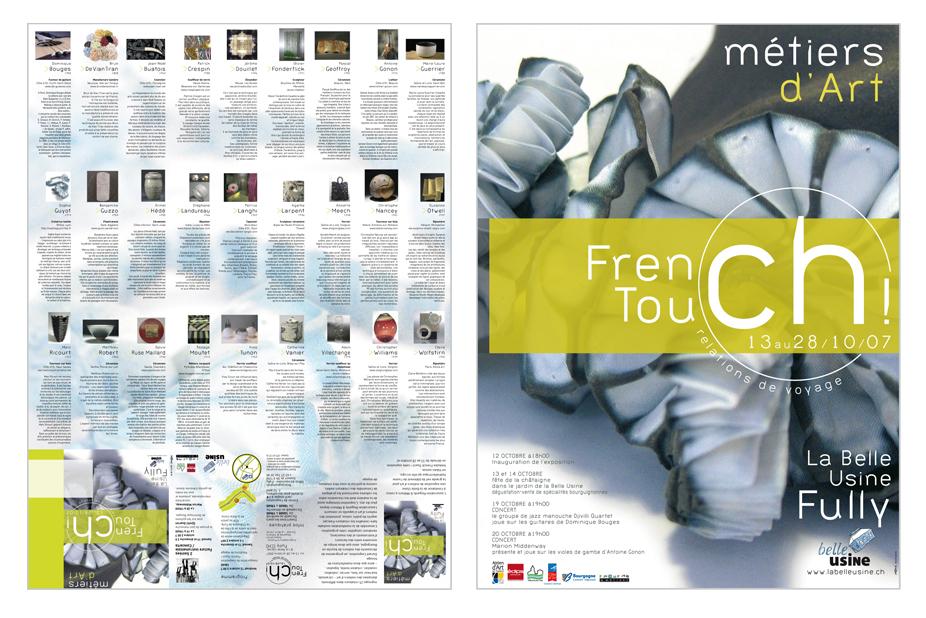 """Affiche/Programme de l'exposition """"French Touch"""""""